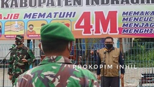 Fauzar PJ Sekda Inhil Memimpin Apel Patroli Berskala Besar Dalam Rangka Penerapan Penegakan Disiplin Covid 19