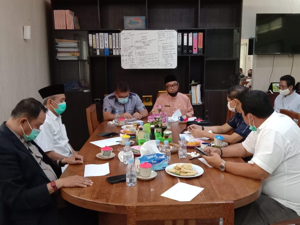 Kunjungan kerja komisi II DPRD Provinsi Riau ke Disbun Inhil