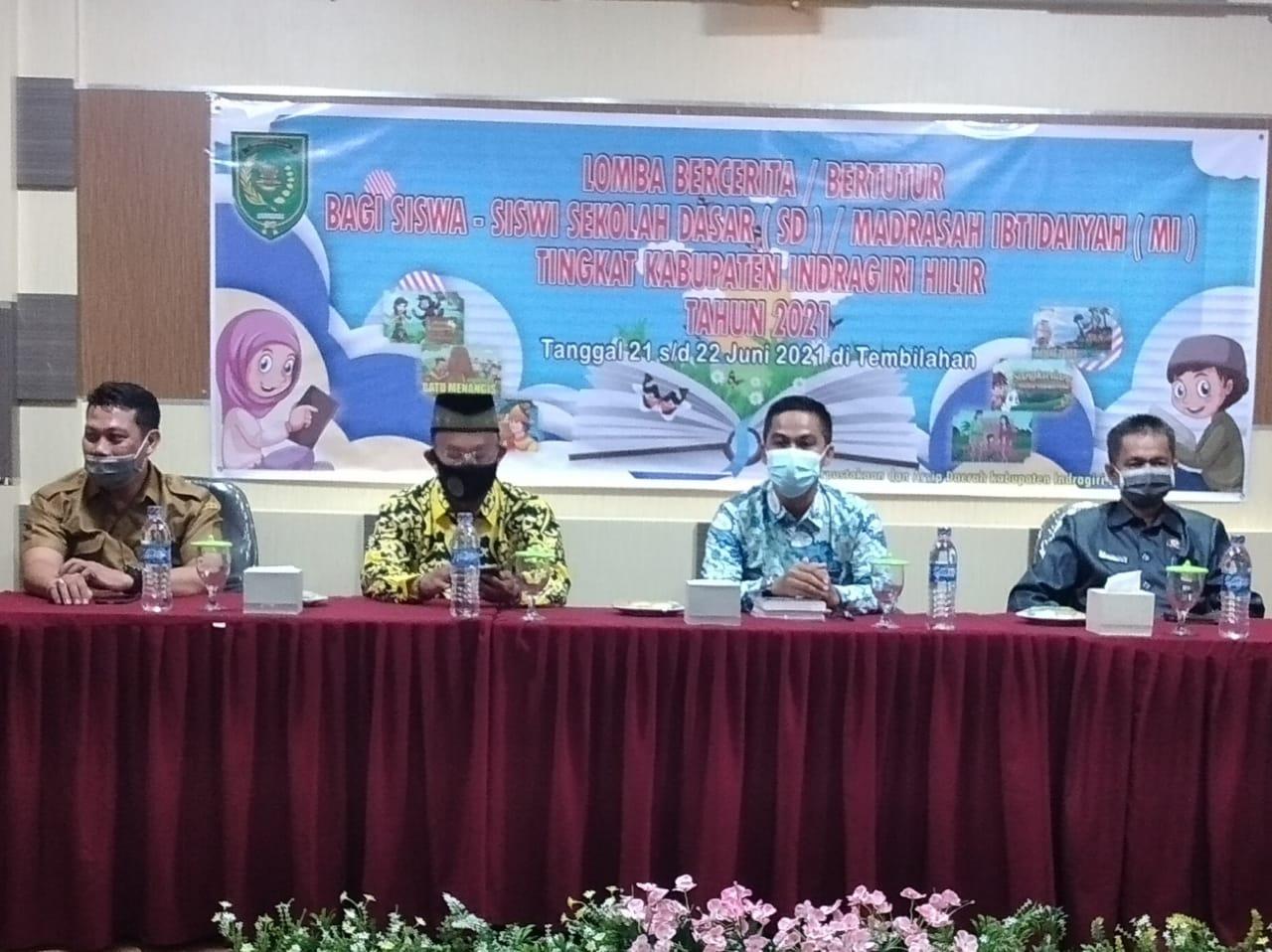 Ditaja DPAD Inhil, Siswa SDN 032 Tembilahan Juarai Lomba Bercerita/Bertutur Tingkat SD dan MI