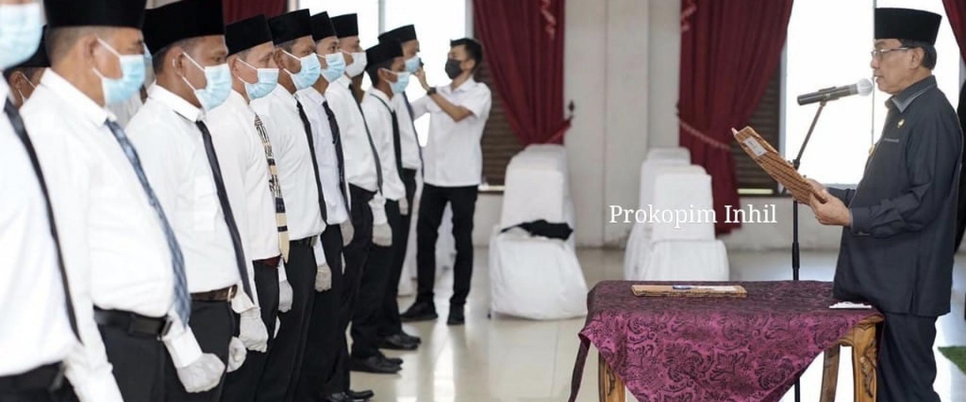 Bupati Inhil lantik Ketua Dan Anggota  BPD  Se- Kecamatan Batang Tuaka