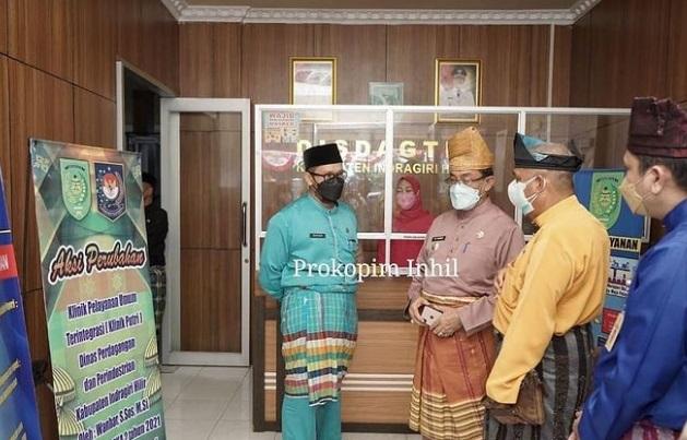 Drs HM Wardan MP melakukan Kunjungan Kerja Ke Kantor Dinas Perdagangan dan Perindustrian Jl. Veteran Tembilahan