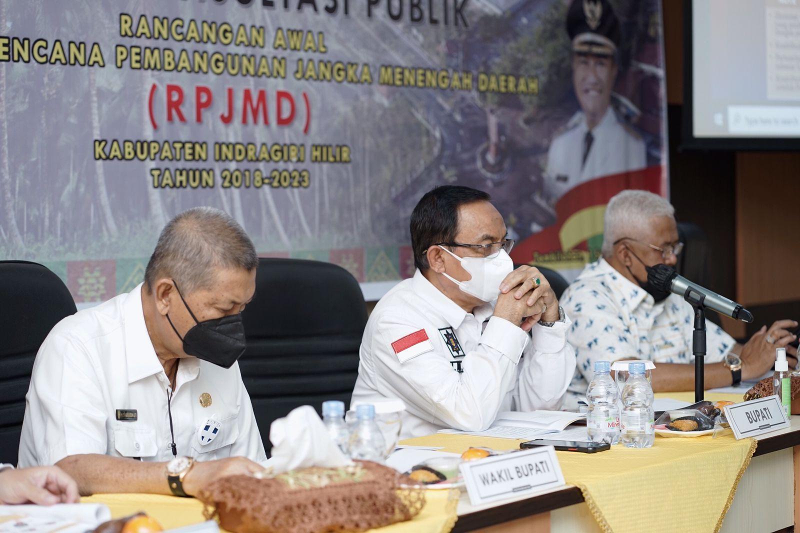 Pesan Bupati Inhil Saat Buka Forum Konsultasi Publik RPJMD Inhil Tahun 2018 - 2023
